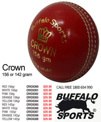 Buffalo Cricket Ball #CROWN for Cricket Clubs and Schools