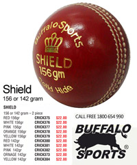 Buffalo Cricket Ball #SHIELD for Cricket Clubs and Schools