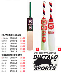 Buffalo Polyarmoured Cricket Bats #CRICK039 for Cricket Clubs and Schools