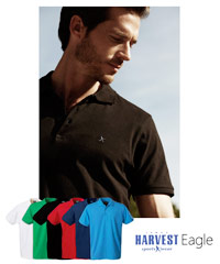 Harvest Sportswear Cotton Polo Shirts.  Mens-Eagle Polo in Six Colours