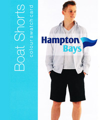Boat Shorts by Hampton Bays- Lightweight Cotton Boat Shorts