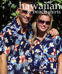 Hawaiian Shirts- Aloha, Big Flower, Hibiscus, Frangipani and more!