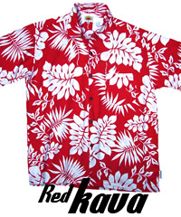 Red Hawaiian Shirts- Red Kava
