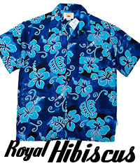 Royal Hawaiian Shirts- Hibiscus Royal Blue