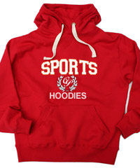 Thick Chunkyweight 370G Hoodies-RED