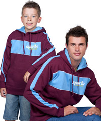Maroon and Light Blue Hoodies for your logo