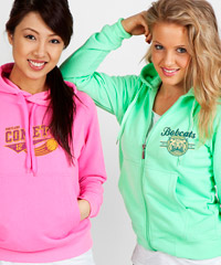 Fluro Hoodies available in Kids and Womens