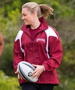 Intensity Spray Jackets-Maroon and White