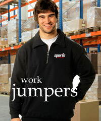 Work Jumpers in heavy duty Fleece with a Zip Front