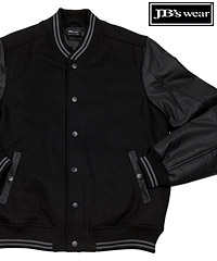 Leather Sleeve Baseball Jacket with Modern Style