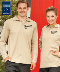 Winning Spirit Long Sleeve Plain Colour Polo Shirts