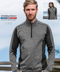 Stormtech Lotus Zip Top-with moisture wicking spandex fleece technology