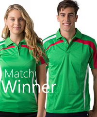 Match Winner Polo Shirt-Breathable, moisture wicking with Slash Chest and Shoulders