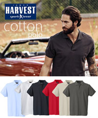 Harvest Sportswear Cotton Polo Shirts-Morton Heights