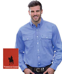 Thomas Cook Oxford Shirts with corporate logo service