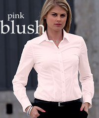 Pink Blush Long Sleeve Stretch Shirts