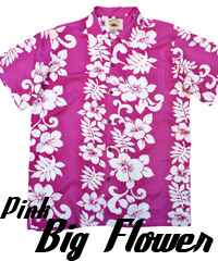 Pink Hawaiian Shirts- Big Flower