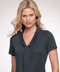 Pippa-Gathered Front Top-Charcoal