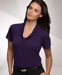 Pippa-Gathered Front Top-Grape