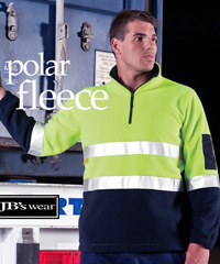 JBs Hi Vis Polar Fleece Pullover with Reflective Tape-Australian Standards