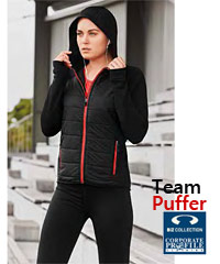 Stealth Jacket with Puffer Chest Front and a Hood