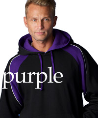 Purple and Black Hoodies (flat front-without a zipper)