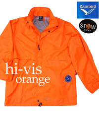Waterproof Hi Vis Orange Rainbird Jackets