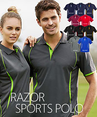Biz Collection-Razor Sports Polo's-Budget Smart