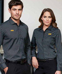 Biz Collection Reno Stripe Shirts for Pubs, Bars, Cafe etc