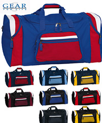 Royal-Red and White Sports Bags