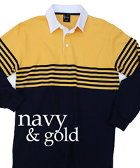 Navy and Gold-Loyalty Rugby Tops