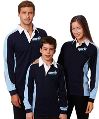 Cool Play Rugby Tops- Navy and Sky Blue