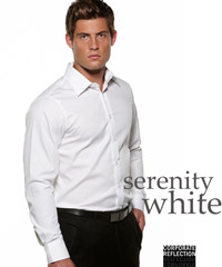 Serenity Business Fit Shirts by Corporate Reflection White, Sky Blue, Black, Lilac