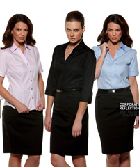 Serenity Business Fit Shirts - Womens Black, Blue and Lilac
