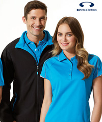 Black and Cyan Blue Soft Shell Jackets