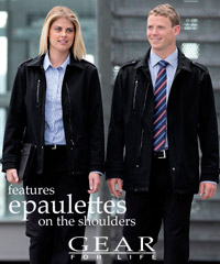 Soft Shell Jackets with Epaulettes on the Shoulders