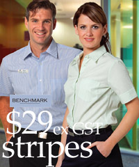 Benchmark: Lime Green Slim Stripe Business Shirts
