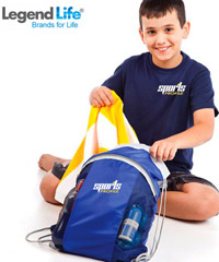 Students Sporty Back-Sacks with Breathable Mesh Sides and Zippered Storage