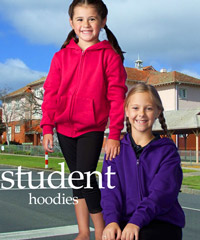 Hoodies: Student Hoodies with Zip Front