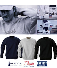 American College Style Sweatshirts by Harvest Sportswear