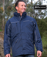 Navy Tempest Jacket with Reflective Piping