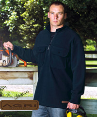 AGRI STATION-Polar Fleece Work Pullover-Jumper with Double Chest Pockets