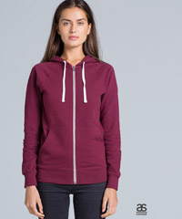 Ladies Traction Zip Marle Hoodies-Nine Colours including Brown, Steel and Purple