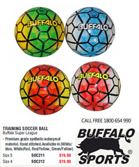 Training Soccer Balls Buffalo Super League For Clubs and Schools