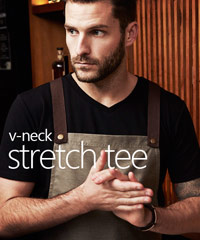 Biz Collection Vee-Neck T-Shirts with Stretch