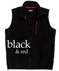 Black and Red Vest with Wind Stopping Membrane