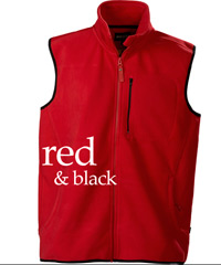 Red and Black Vest with Wind Stopping Membrane
