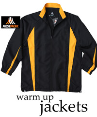 Black and Gold Warm Up Jackets