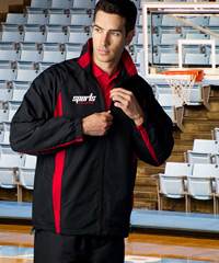 Black and Red Warm Up Jackets