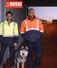 Womens Australian Standards-Hi Vis Waterproof/Breathable Jacket by Huski